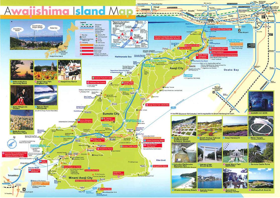 Awajishima Island Map